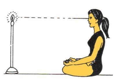 Индийское упражнение Тратака для восстановления зрения