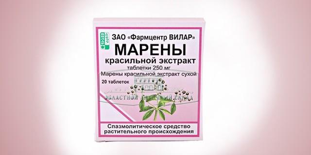 Экстракт Марены Красильной: инструкция по применению